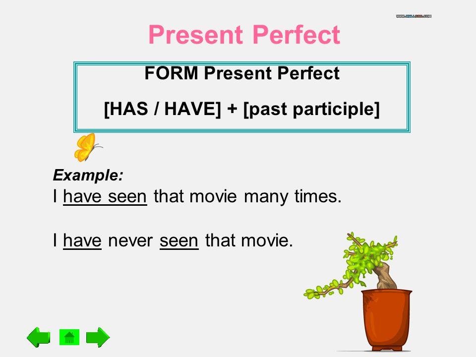 Form Present Perfect Has Have Past Participle Ppt Download
